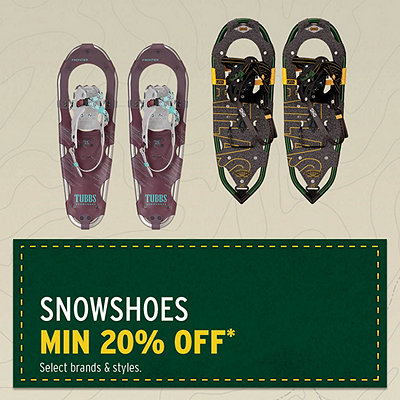 Select Snowshoes Minimum 20% Off*