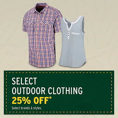 Select Outdoor Clothing 25% Off*