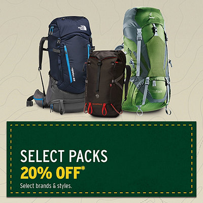 Select Packs 20% Off* & More Great Deals