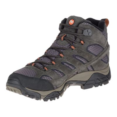 merrell mens moab 2 mid gtx hiking shoe - beluga ve