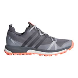 adidas Women's Terrex Agravic Trail Running Shoes - Grey/Coral