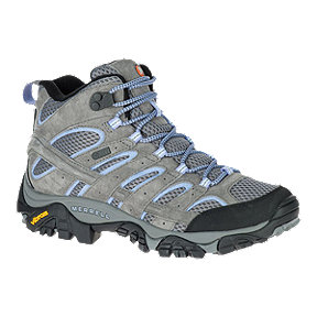 Merrell Women's Moab 2 Mid Waterproof Hiking Boots - Grey/Periwinkle