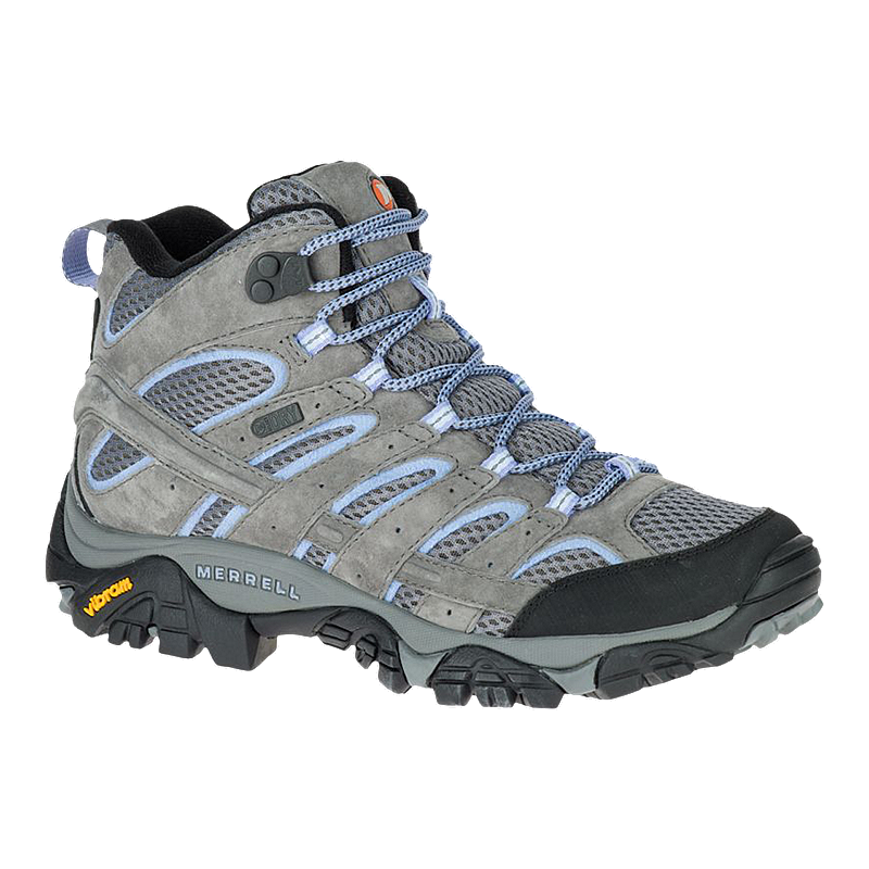 6cc2f827f7a9 Merrell Women s Moab 2 Mid Waterproof Hiking Boots - Grey Periwinkle ...