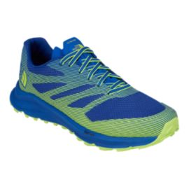 The North Face Men's Ultra TR III Trail Running Shoes - Blue/Lime Green