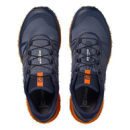 81c366acd Salomon Men's Sense Ride Trail Running Shoes - Navy/Orange/Blue
