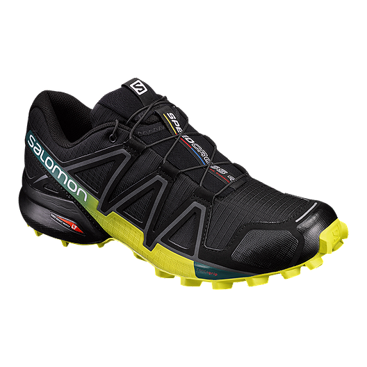 305ab762bae7f Salomon Men s Speedcross 4 Trail Running Shoes - Black Green Blue ...