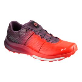 Salomon Men's S Lab Sense Ultra Trail Running Shoes - Red/Grey/White