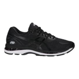 ASICS Men's Gel Nimbus 20 Running Shoes - Black/White/Grey