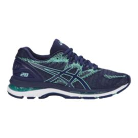ASICS Women's Gel Nimbus 20 Running Shoes - Blue/Green