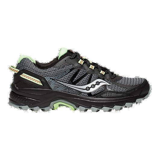 c00da3a49904 Saucony Women s Excursion TR 11 Trail Running Shoes - Black Lime ...