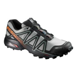 Salomon Men's Speedcross 4 CS Trail Running Shoes - Green/Black/Orange