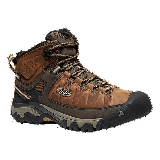 54d86208be934e Keen Men s Targhee III Mid Waterproof Hiking Boots - Big Ben Golden Brown