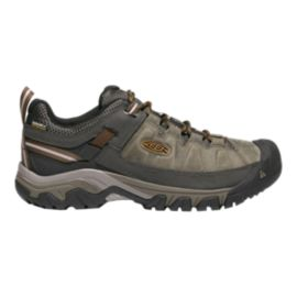 Keen Men's Targhee III Leather Waterproof Hiking Shoes - Black Olive/Brown