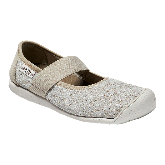 fab2b943355 Keen Women s Sienna Mary Jane Knit Shoes - Silver White