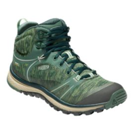 Keen Women's Terradora Mid Waterproof Hiking Shoes - Duck Green
