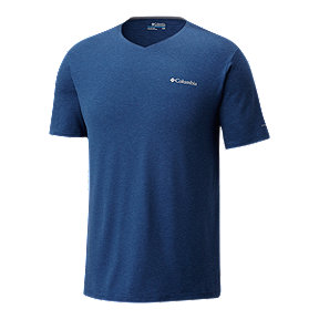 Columbia Men's Tech Trail V Neck T Shirt - Carbon