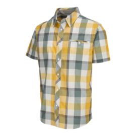 McKINLEY Men's Plast Short Sleeve Shirt - Silver Pine