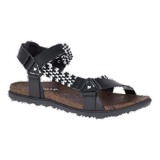 bbba7a0f535c2 Merrell Women s Around Town Sunvue Woven Sandals - Black