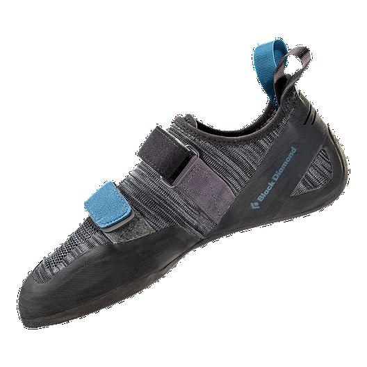 Black Diamond Momentum Velcro Climbing Shoes - Ash Grey