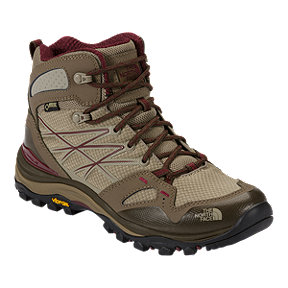 The North Face Women's Hedgehog Fastpack Mid Gore-Tex Hiking Shoes - Beige/Red