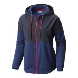 Columbia Women's Lost Lager Hoodie - Bluebell Heather/India Ink
