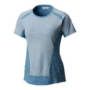 Columbia Women's Solar Chill Short Sleeve Shirt - Jewel Blue