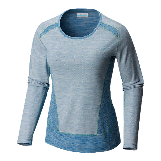 823886b11ba Columbia Women's Solar Chill Long Sleeve Shirt - Jewel/Neon Light - JEWEL/  NEON
