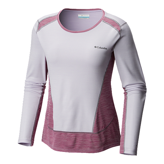 cb45ee70f30 Columbia Women's Solar Chill Long Sleeve Shirt - Violet/Intense Violet    Atmosphere.ca