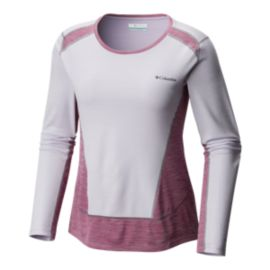 Columbia Women's Solar Chill Long Sleeve Shirt - Violet/Intense Violet