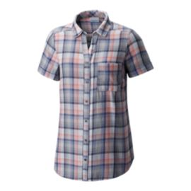 Columbia Women's Wild Haven Short Sleeve Shirt - Nocturnal Big Check