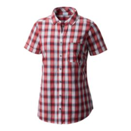 Columbia Women's Wild Haven Short Sleeve Shirt - Camellia Small Check