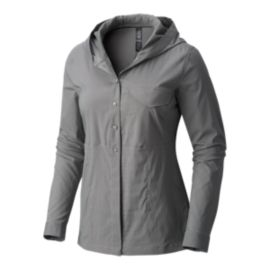 Mountain Hardwear Women's Citypass Long Sleeve Hooded Shirt - Manta Grey