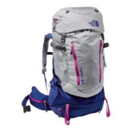 The North Face Terra 55 L Women's Backpack - High Rise Grey/Sodalite Blue