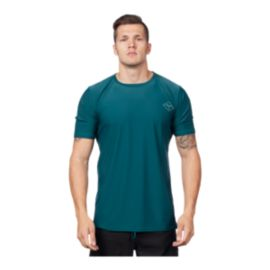 Level Six Men's Coastal Short Sleeve Rash Guard - Dark Waters