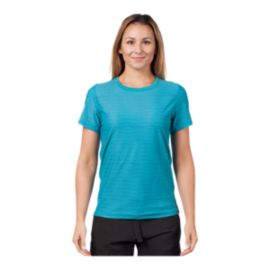 Level Six Women's Coastal Short Sleeve Rash Guard - Laguna Ripples