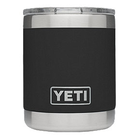YETI Rambler 10 oz Lowball with Lid - Black