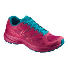 Salomon Women's Sonic Pro 2 Running Shoes - Sangria/Blue