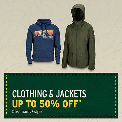 Clothing & Jackets up to 50% Off*