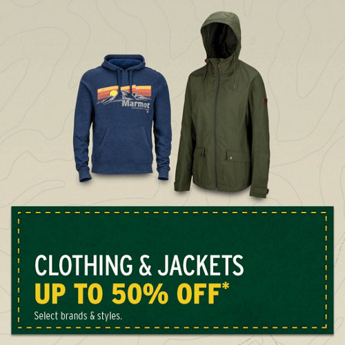 Clothing & Jackets up to 50% Off