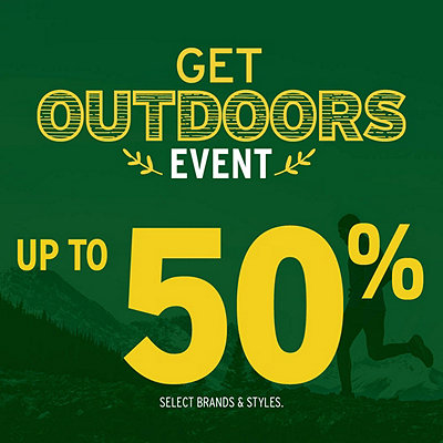 Get Outdoors Deals up to 50% Off*