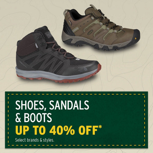 Shoes, Sandals & Boots up to 40% Off