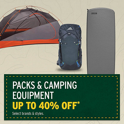 Select Packs & Camping Equipment Up To 40% Off*