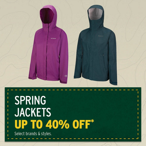 Spring Jackets Up to 40% Off