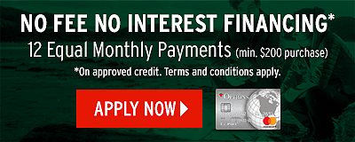NO FEE, NO INTEREST FINANCING - Apply Now