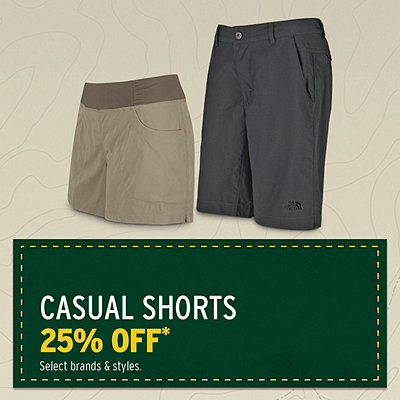 Men's & Women's Select Casual Shorts 25% Off*