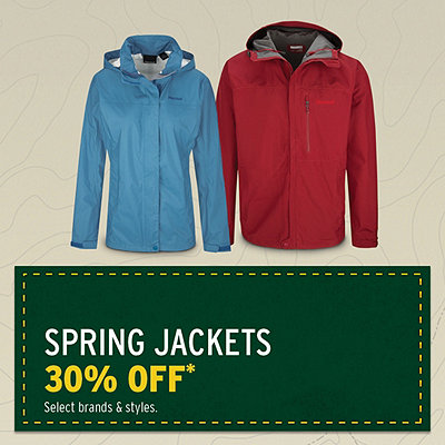 Spring Jackets 30% Off*