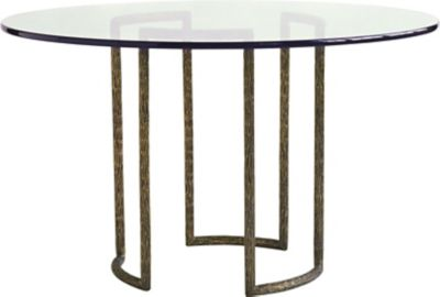 Textured Brass Dining Table