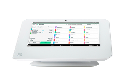 Clover Mini is small but powerful POS solution. It's a tablet-like, touchscreen POS device that takes up minimal counter space.