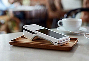 Payment device at a restaurant