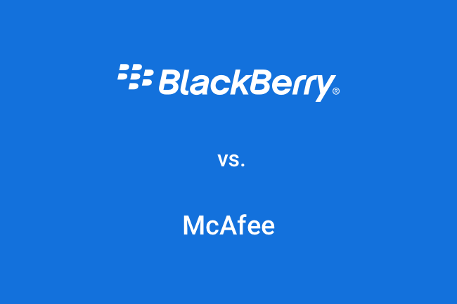 BlackBerry vs. McAfee